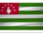 Abkhazia flag vector. Vector Abkhazia flag blowig in the wind. EPS 10.